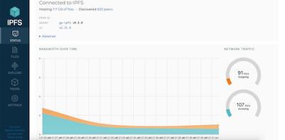 IPFS web interface screenshot